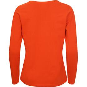 Elkline Dots T-shirt à manches longues Femme, darkorange